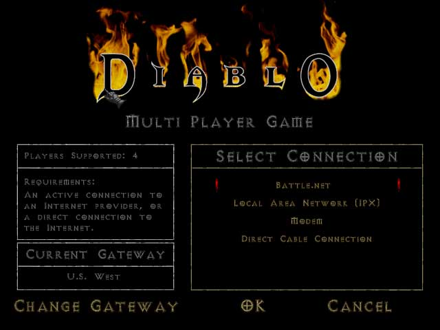 Diablo multi player mode start