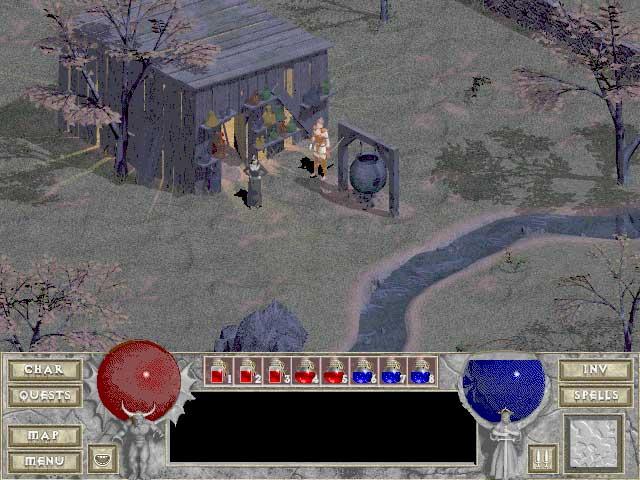 Diablo1 エイドリアの小屋にて
