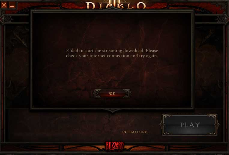 Diablo3 Patch Install network error