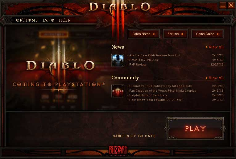 Diablo3 for PlayStation 告知画面