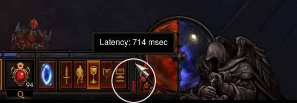 Diablo3 ping レイテンシーバー