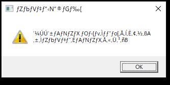リモートデスクトップ接続で、文字化けしたメッセージが表示される